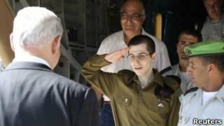ملاقات گیلعاد شاليط با بنیامین نتانیاهو  پس از آزادی