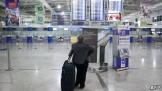 Aeropuerto de Atenas. Foto de archivo