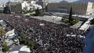 مظاهرات في أثينا