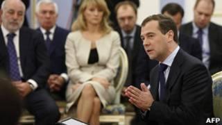 """Дмитрий Медведев на встрече в """"Горках"""""""