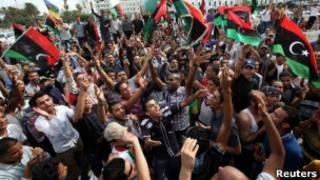 Comemorações em Trípoli.