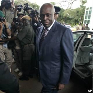 O presidente de Angola, José Eduardo dos Santos.