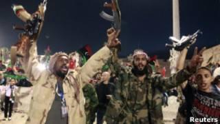 लीबिया में जश्न