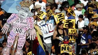 Manifestación contra el gobierno de Chávez en noviembre de 2007