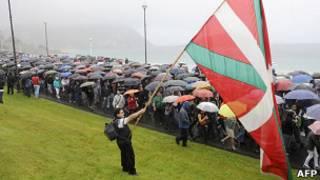 Демонстрация сторонников ЭТА в Испании