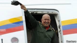 O presidente venezuelano Hugo Chávez