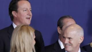 包括英國首相卡梅倫和希臘總理帕潘德里歐在內的歐盟各國領導人聚會布魯塞爾
