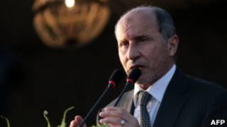 O líder do CNT, Mustafa Abdel Jalil.