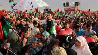 احتفالات بنغازي بإعلان تحرير ليبيا