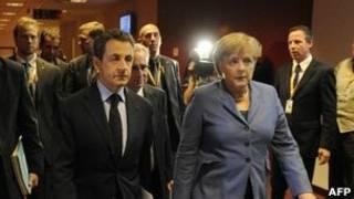 Perezida Sarkozy w'Ubufaransa na Angela Merkel uyobora leta y'Ubudage