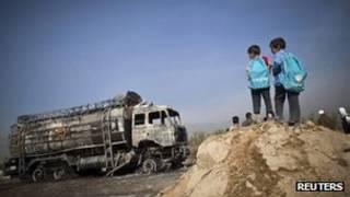 تانکر سوخته در پروان