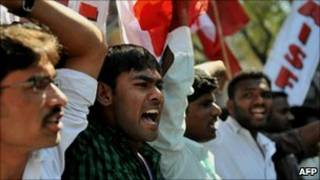 हैदराबाद में प्रदर्शन (फ़ाइल)