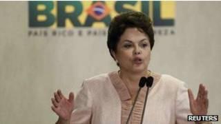 الرئيسة البرازيلية، ديلما روسف