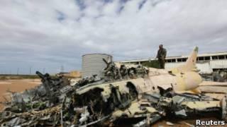 Xác phi cơ quân sự của Gaddafi