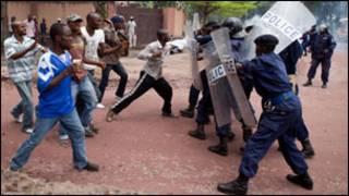 Polisi ihanganye n'abayoboke ba  UPDS