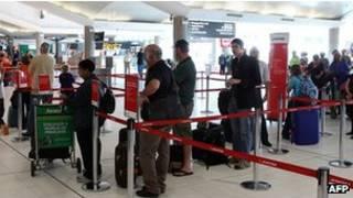 Passageiros da Qantas