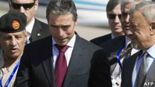 北約秘書長拉斯穆森在利比亞