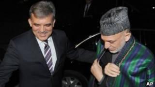 حامد کرزی، رئیس جمهوری افغانستان و عبدالله گل، رئیس جمهوری ترکیه