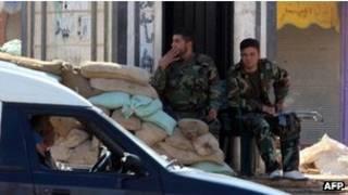 نیروهای ارتش سوریه در شهر حمص