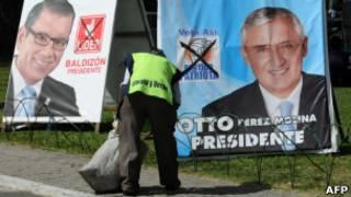 لافتة انتخابية في غواتيمالا