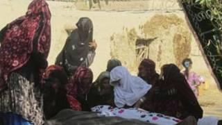 عزاداری بر سر جنازه قربانیان حمله روز اول عید در بغلان