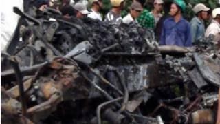 Hiện trường vụ tai nạn ở Bình Thuận