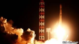 """Запуск ракеты-носителя """"Зенит-2SБ"""" с космодрома """"Байконур"""""""