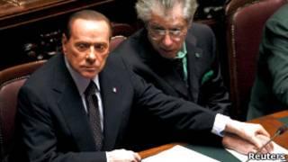 Сильвио Берлускони во время голосования