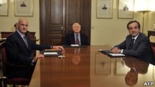 帕潘德里歐、希臘總統,反對黨領袖