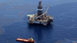 Plataforma Petrolera en el Golfo de Mexico