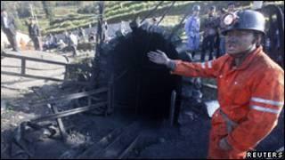 Một hầm mỏ bị sập tại Trung Quốc