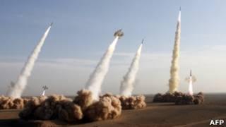 صواريخ من سلاح الحرس الثوري في إيران