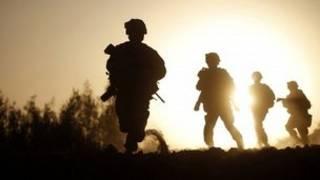 نیروهای افغان و ناتو در قندهار