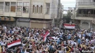 تظاهرات در حمص