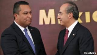 Министр Блаке Мора и президент Кальдерон