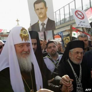 Патриарх Кирилл в Сирии