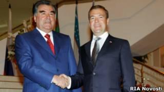 Дмитрий Медведев и Эмомали Рахмон