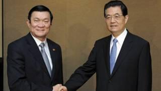 Hai ông Trương Tấn Sang và Hồ Cẩm Đào