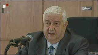 विदेश मंत्री वालिद अल-मुआलेम