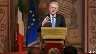 O primeiro-ministro italiano Mario Monti.