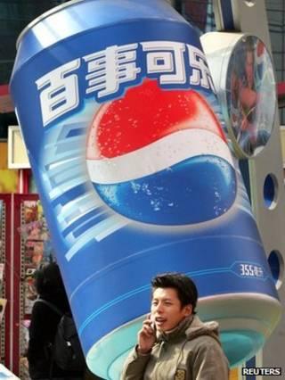 上海街頭的百事可樂廣告(資料圖片)