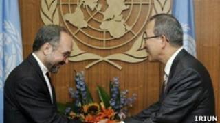 خزاعی و دبیرکل سازمان ملل