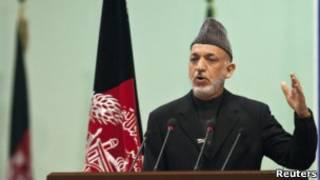 حامد کرزی، رئیس جمهوری افغانستان
