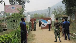 माओवादी लडाकुहरुको शिविर