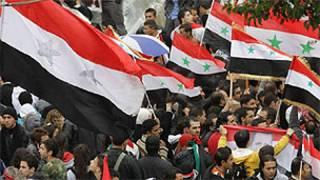 Raia wa Syria katika mkutano wa Rais Assad hii leo