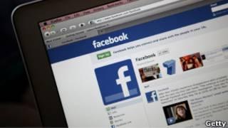 Страница Facebook на компьютере