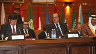 جانب من اجتماع المنتدى العربي-التركي في الرباط