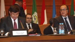 عرب لیگ کی میٹنگ کی ایک فوٹو