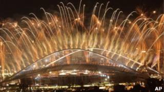 Encerramento da Olimpíada de Atenas / AP
