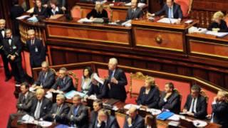 Thủ tướng Monti đọc diễn văn ở Thượng viện